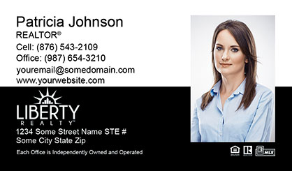 LIberty Realty Business Card Template LR-BC-006