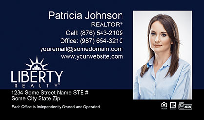 LIberty Realty Business Card Template LR-BC-008