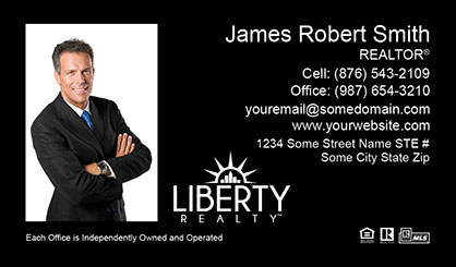 LIberty Realty Business Card Template LR-BC-009