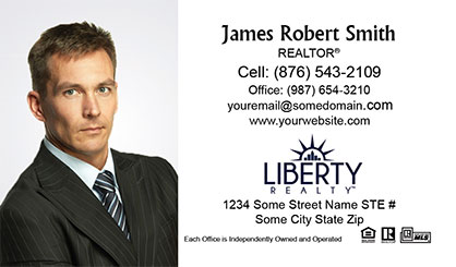LIberty-Realty-Business-Card-Core-With-Full-Photo-TH71-P1-L1-D1-White
