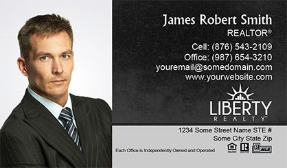 LIberty-Realty-Business-Card-Core-With-Full-Photo-TH75-P1-L3-D1-Black-Others