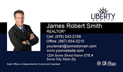 LIberty-Realty-Business-Card-Core-With-Medium-Photo-TH52-P1-L1-D3-Blue-Black-White