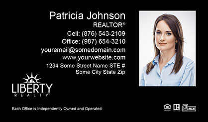 LIberty-Realty-Business-Card-Core-With-Medium-Photo-TH55-P2-L3-D3-Black