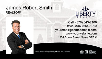 LIberty-Realty-Business-Card-Core-With-Medium-Photo-TH61-P1-L1-D3-Black-White-Others