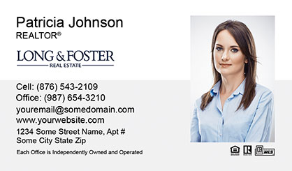 Long and Foster Business Card Template LF-BCM-002