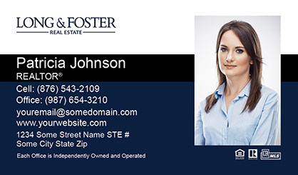 Long and Foster Business Card Template LF-BCM-004