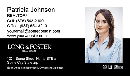 Long and Foster Business Card Template LF-BCM-006