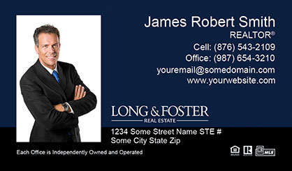 Long and Foster Business Card Template LF-BCM-007