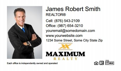 Maximum Realty Canada Business Card Magnets MRC-BCM-001