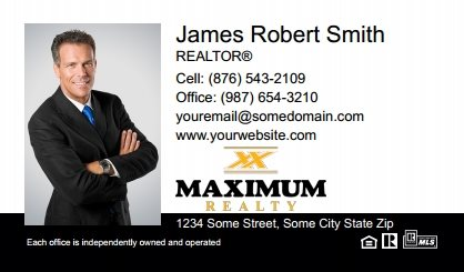 Maximum Realty Canada Business Card Magnets MRC-BCM-005