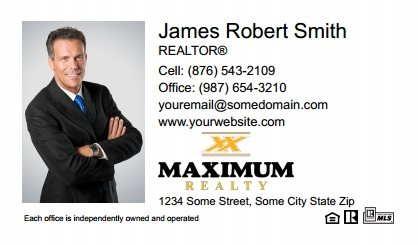 Maximum Realty Canada Business Card Magnets MRC-BCM-006