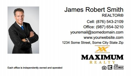 Maximum Realty Canada Business Card Magnets MRC-BCM-009