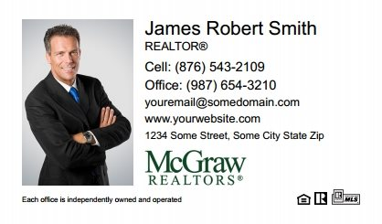 McGraw Realtors Business Card Labels MGR-BCL-001