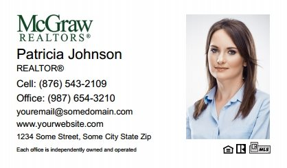 McGraw Realtors Business Card Labels MGR-BCL-002