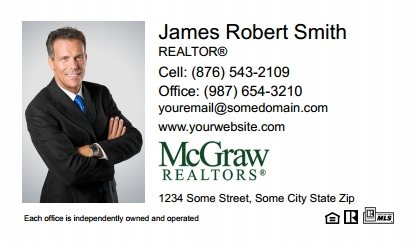 McGraw Realtors Business Card Labels MGR-BCL-006