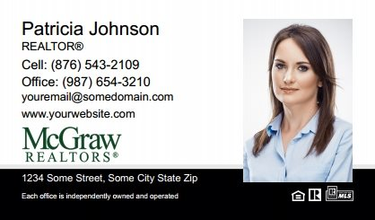 McGraw Realtors Business Card Labels MGR-BCL-007