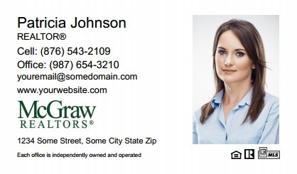 McGraw Realtors Business Card Labels MGR-BCL-008