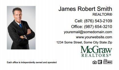McGraw Realtors Business Card Labels MGR-BCL-009