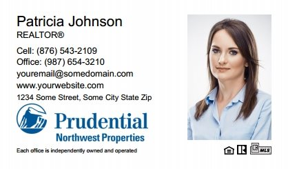 Prudential Real Estate Canada Business Card Labels PRUC-BCL-004