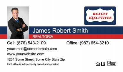 Realty executives fridge magnets design and print online sure realty executives business card magnets re bcm 047 colourmoves