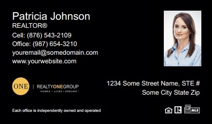 Realty One Group Business Cards Template Rogi Bc 037 Surefactor