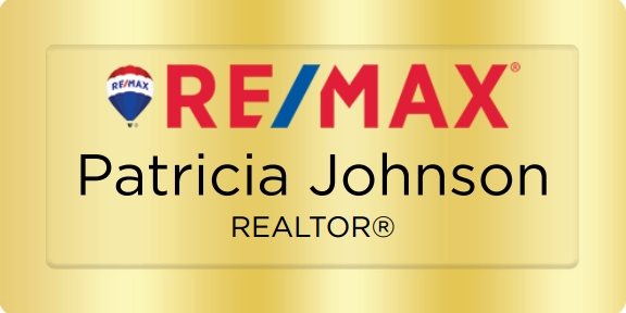 Remax Name Badges Golden (W:3
