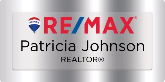 Remax Name Badges Silver (W:3