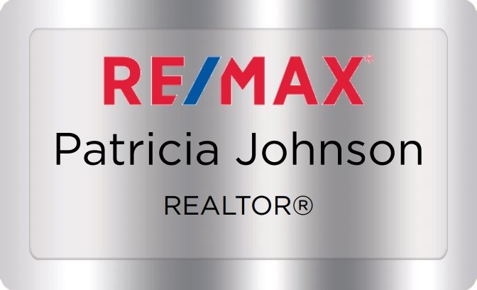 Remax Name Badges Silver (W:2