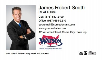 Watson Realty Business Cards WRC-BC-002