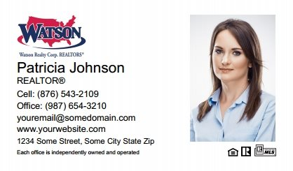 Watson Realty Business Cards WRC-BC-004