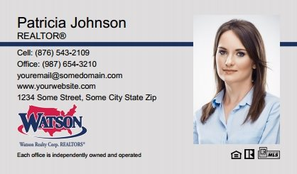 Watson Realty Business Cards WRC-BC-005