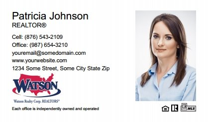 Watson Realty Business Cards WRC-BC-006