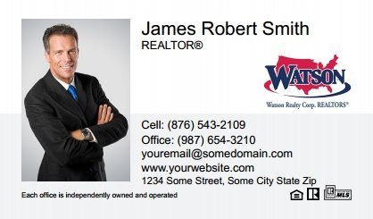 Watson Realty Business Cards WRC-BC-007