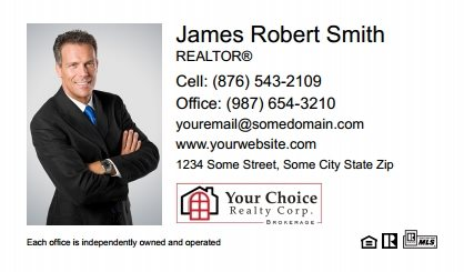 Your Choice Realty Canada Business Card Magnets YCRC-BCM-001