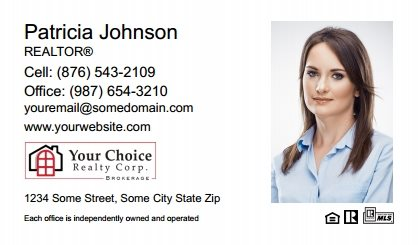 Your Choice Realty Canada Business Card Magnets YCRC-BCM-008