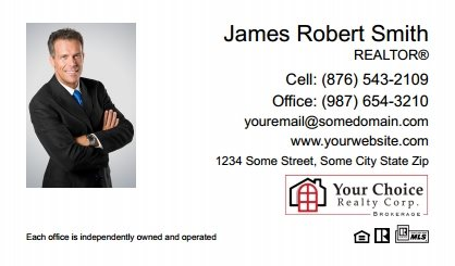 Your Choice Realty Canada Business Card Magnets YCRC-BCM-009