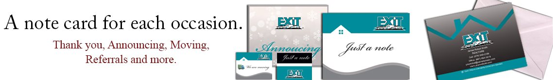 Exit Realty Note Cards