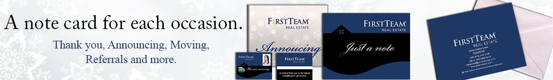 First Team Real Estate Note Cards