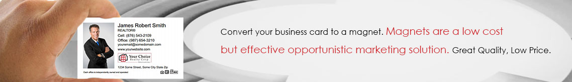 Your Choice Realty Canada Business Card Magnets